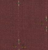 Diamond Textiles Primitive Rustic Burgandy Pluses and Lines