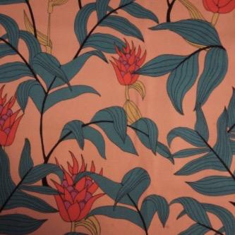 Lady McElroy Tropical Stems Stretch Cotton Twill