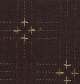 Diamond Textiles Primitive Rustic Chocolate Pluses and Lines