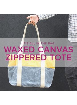 Erica Horton Waxed Canvas Zipper Tote, Alberta St Store, Wednesday & Thursday, December 18 & 19, 6-9 pm
