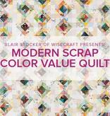 Blair Stocker Modern Scrap Color Value Quilt/Pillow, Lake Oswego Store, Saturday, April 18, 2-5pm