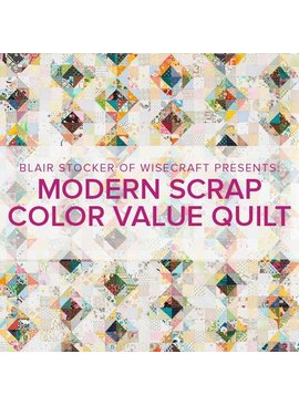 Blair Stocker Modern Scrap Color Value Quilt/Pillow, Lake Oswego Store, Saturday, April 18, 2-5pm