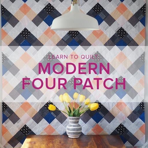 Cath Hall Learn to Quilt: Modern Four Patch Seeing Double Quilt, Alberta St. Store, Tuesdays, February 18, 25, March 3, & 10, 6-8:30pm