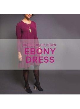 Karin Dejan CLASS IN SESSION Ebony Dress, Lake Oswego Store, Tuesdays, February 11, 18, & 25, 6-9pm