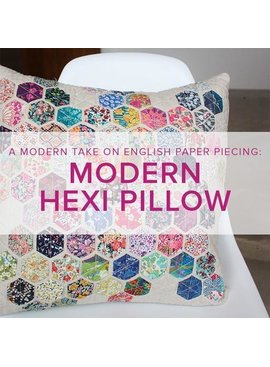 Cath Hall Modern Hexie Pillow, Alberta St Store, Wednesdays, April 1 & 8, 6-9pm