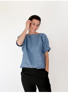 The Assembly Line Patterns Cuff Top pattern by The Assembly Line Patterns