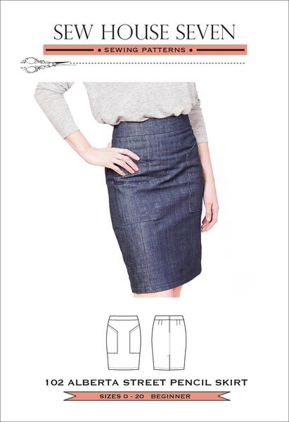 Sew House Seven SALE Sew House Seven Alberta Street Pencil Skirt Pattern