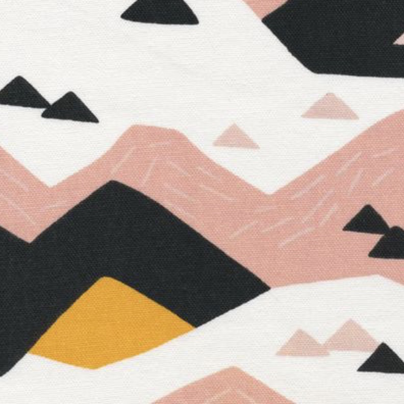 Cloud 9 Wildlife by Ophelia Pang Organic Canvas Pink Mouintain