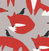 Cloud 9 Wildlife by Ophelia Pang Organic Canvas Foxes