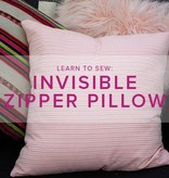 Erica Horton Learn to Sew: Invisible Zipper Pillow, Lake Oswego Store, Thursday, February 20, 6-9pm