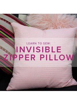 Karin Dejan CLASS FULL Learn to Sew: Invisible Zipper Pillow, Lake Oswego Store, Thursday, February 20, 6-9pm