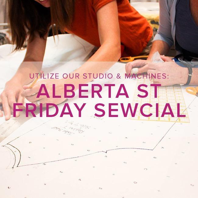 Modern Domestic Friday Night Sewcial, Alberta St. Store, Friday, February 7, 5-8 pm