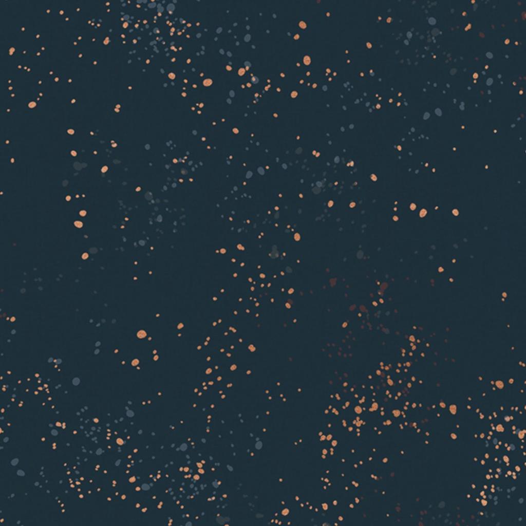 Ruby Star Society Speckled by Rashida Coleman Hale for Ruby Star Metallic Teal Navy