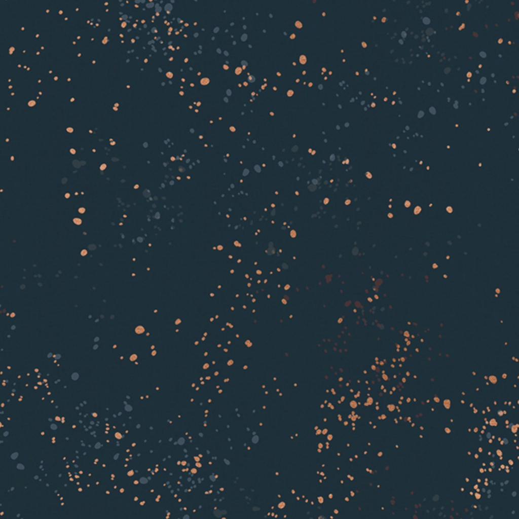 Speckled by Rashida Coleman Hale for Ruby Star Metallic Teal Navy