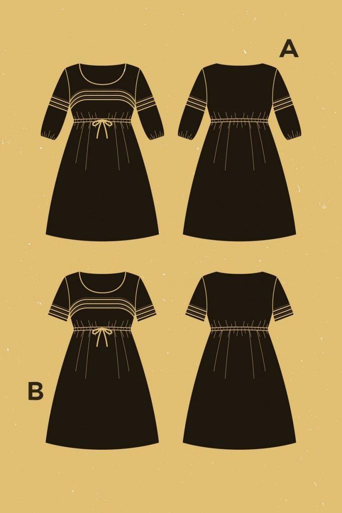 Deer and Doe Deer and Doe Aubepine Dress Pattern