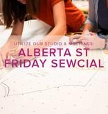 Modern Domestic Friday Night Sewcial, Alberta St. Store, Friday, February 28, 5-8 pm