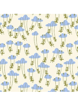 Windham Fabrics Playground by Dylan Mierzwinski Cloud Swinging Blue