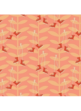 Windham Fabrics Playground by Dylan Mierzwinski Beanstalk Coral