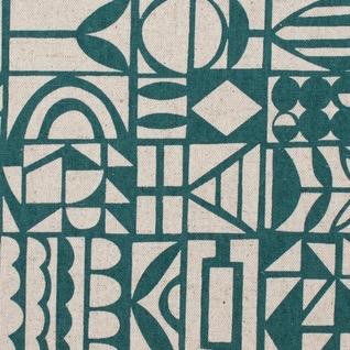 Kokka Paper by Ellen Baker: Papercut Teal