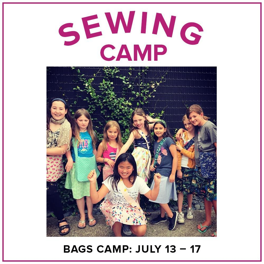 Cath Hall Kids Sewing Camp: Bags!, Alberta St. Store, Monday - Friday, July 13-17, 1-4 pm