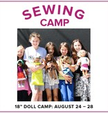 """Cath Hall Kids Sewing Camp: Sew a Wardrobe for my 18"""" Doll! Lake Oswego Store, Monday - Friday, August 24-28, 9am-12pm"""