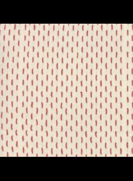 Moda French Sashiko Pearl Red