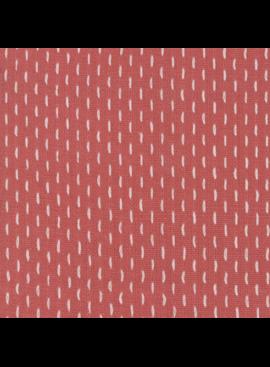 French Sashiko Faded Red