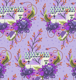 """Freespirit Homemade by Tula Pink - Petal to the Metal - Night - Floral Sewing Machine44"""" 100% Cotton"""