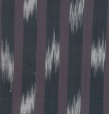 "Moda Boro Foundations charcoal and grey large ikat stripe 100% Cotton 44"" wide"