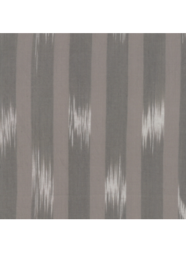 "Moda Boro Foundations Warm grey large ikat stripe 100% Cotton 44"" wide"
