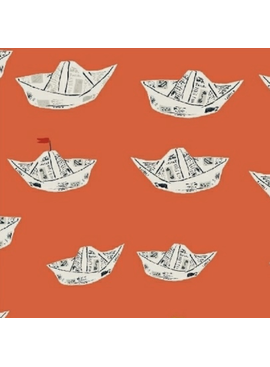 Windham Fabrics Far Far Away 2 by Heather Ross Paper Boats Red