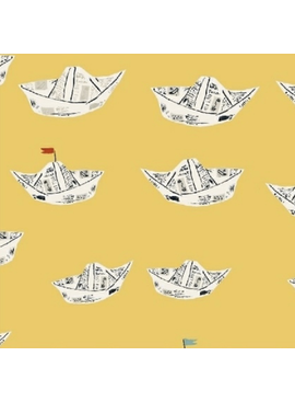 Windham Fabrics Far Far Away 2 by Heather Ross Paper Boats Yellow