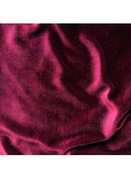 Wine Red Stretch Velvet