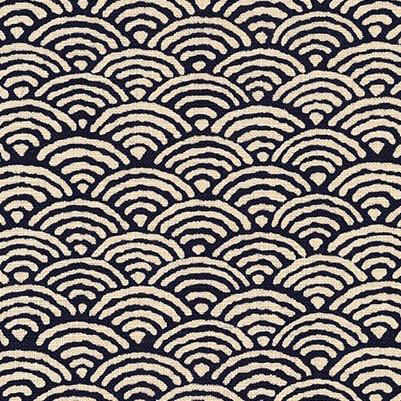 Robert Kaufman Sevenberry: Seigaiha (Scallops/Half Circle) Nara Homespun Indigo