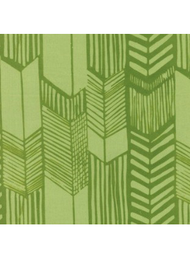 Hoffman Fabrics Me + You Indah Batik Feathered Arrows Leaf