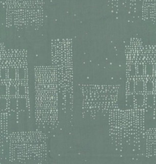 Hoffman Fabrics Me + You Hand Dyed Batiks Buildings Marlin