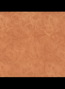 Hoffman Fabrics Me + You Hand Dyed Batiks Land Maps Apricot