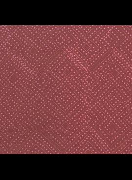 Hoffman Fabrics Me + You Hand Dyed Batiks Diamond Dots Wild Rose