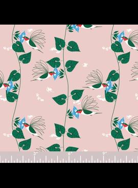 Birch Fabrics Charlie Harper's Backyard Hummingbirds Poplin