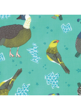 Moda Pacific Wanderings by Mara Penny Birds Sea Green
