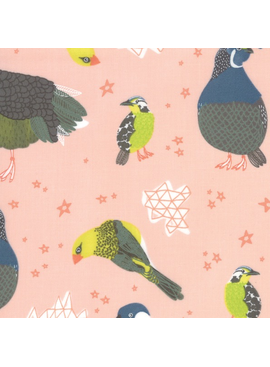 Moda Pacific Wanderings by Mara Penny Birds Coral