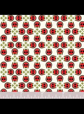 Birch Fabrics Charlie Harper's Backyard Lucky Ladybug Poplin