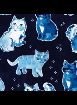 Dear Stella Blue Crush by August Wren for Dear Stella Indigo Cats