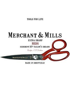 "Merchant & Mills Merchant & Mills Reds Extra Sharp Tailor's Shears 10"" Scissors (scissor 3)"