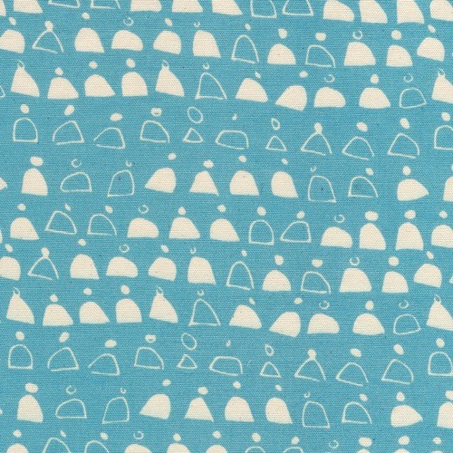 Cloud 9 Rain Walk Canvas by Anna Graham: Swell Blue