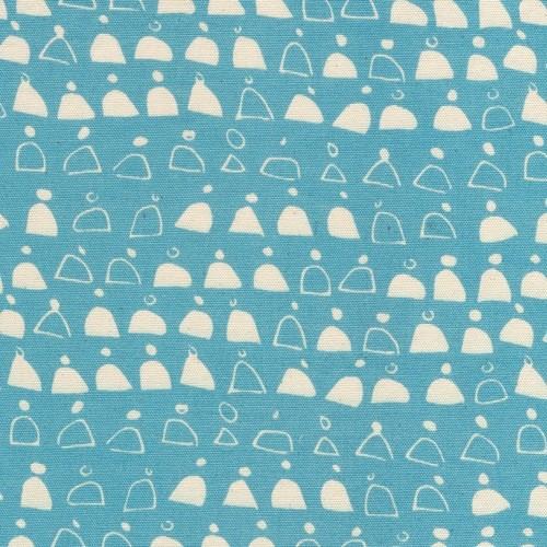 Cloud 9 Rain Walk Canvas by Anna Graham: Swell Blue