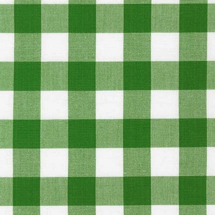 "Robert Kaufman Carolina Gingham 1"" Kelly"