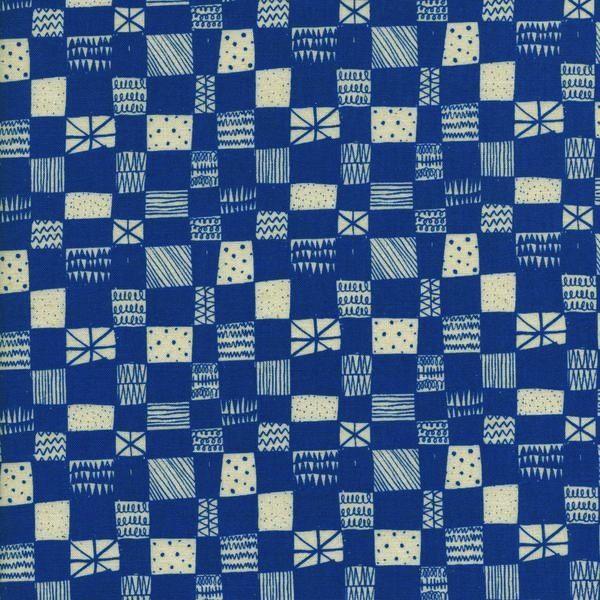 Cotton + Steel Print Shop by Alexia Abegg: Grid - Blue