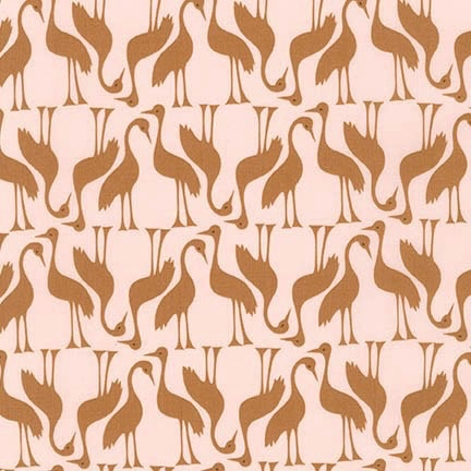 Robert Kaufman Pond by Elizabeth Hartman Gold Birds