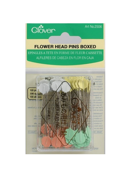 Clover Clover Flower Head Pins Boxed 100ct